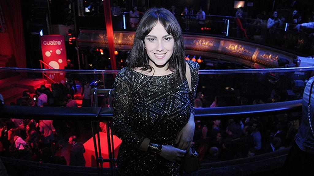La actriz Alba García acudió con un vestido de Mango