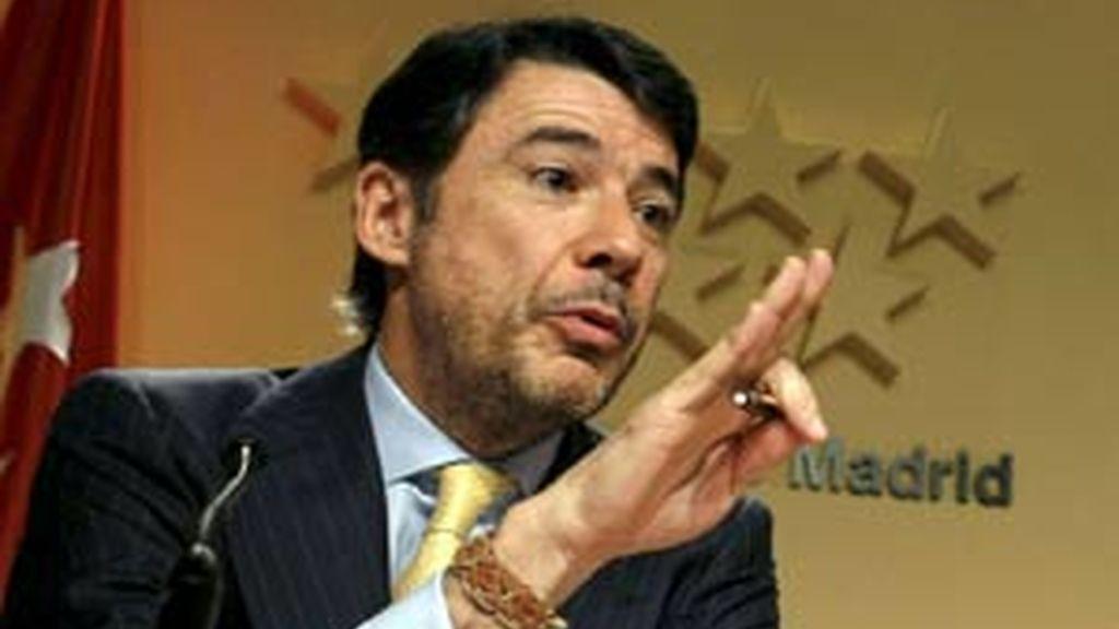 El 'número 2' de la Comunidad de Madrid, Ignacio González, durante la rueda de prensa del jueves. Foto: EFE