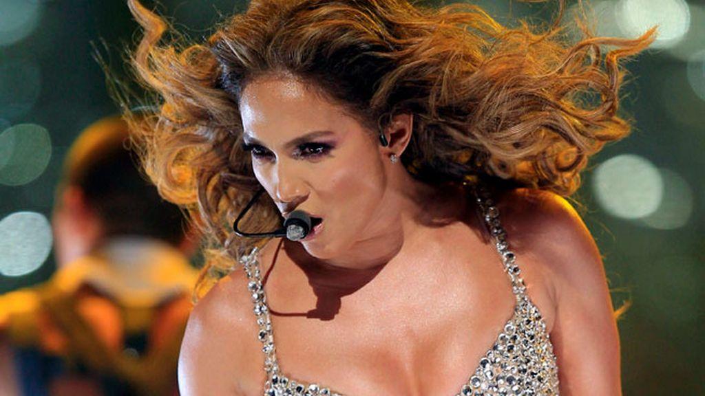 Jennifer López durante su concierto en Madrid