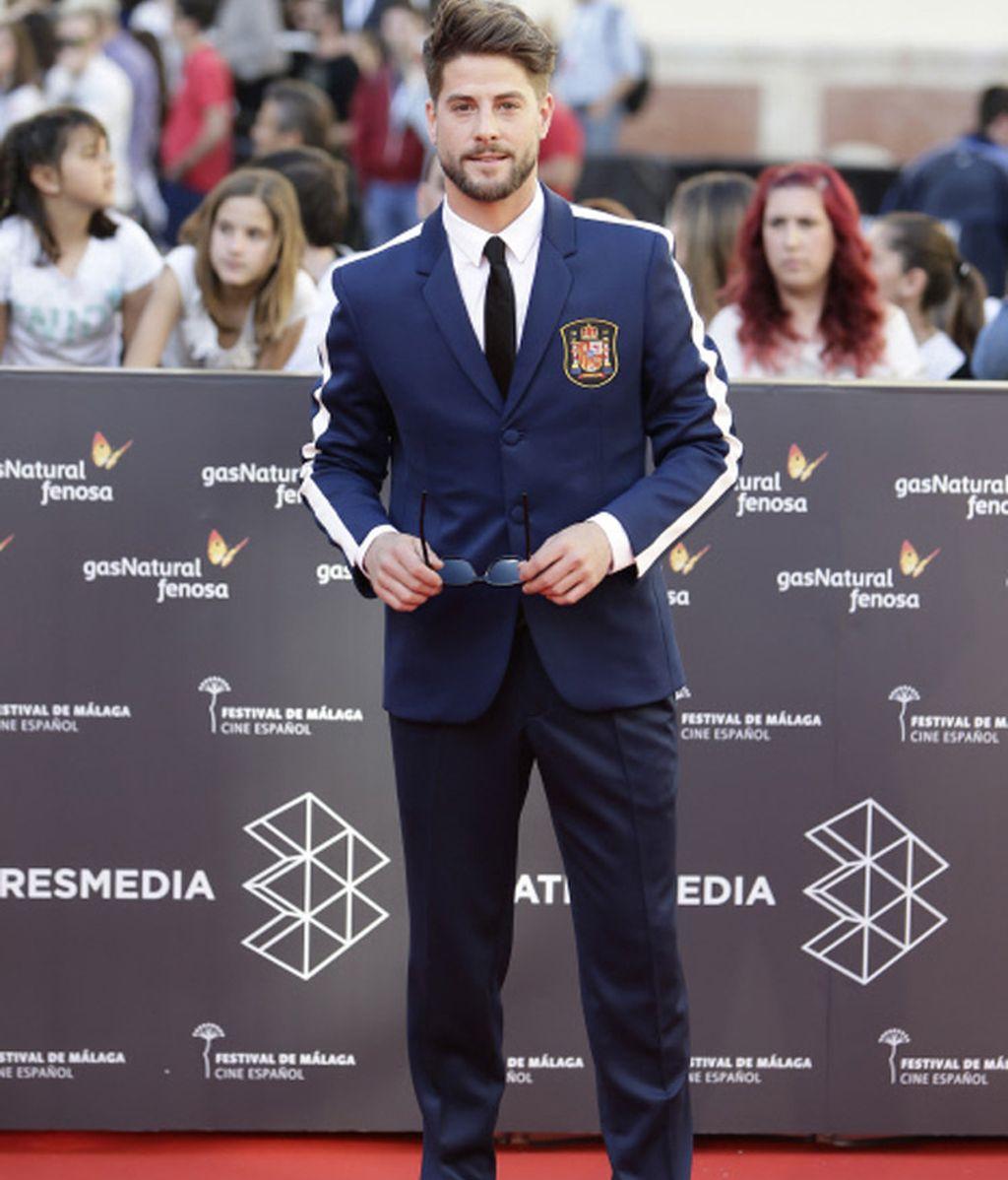 Luis Fernández de sport y de España en la alfombra roja de Málaga