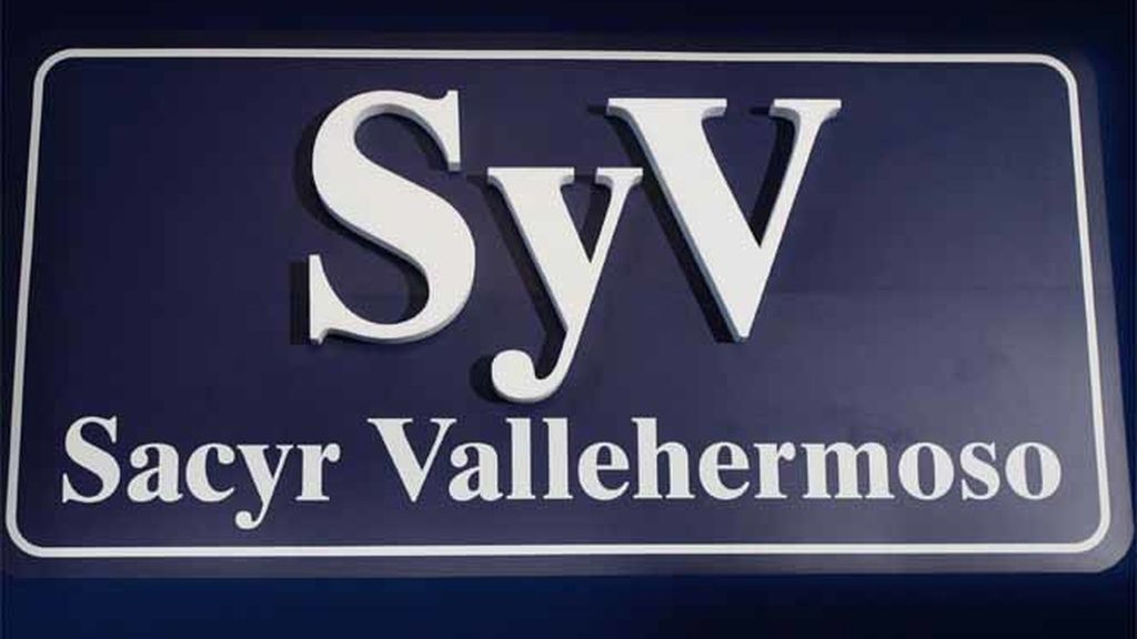 Logotipo de la constructora española Sacyr Vallehermoso