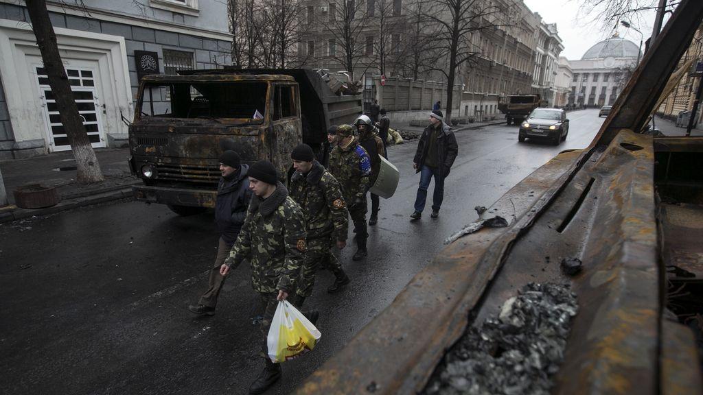 Ucrania libera a 64 manifestantes opositores detenidos esta semana