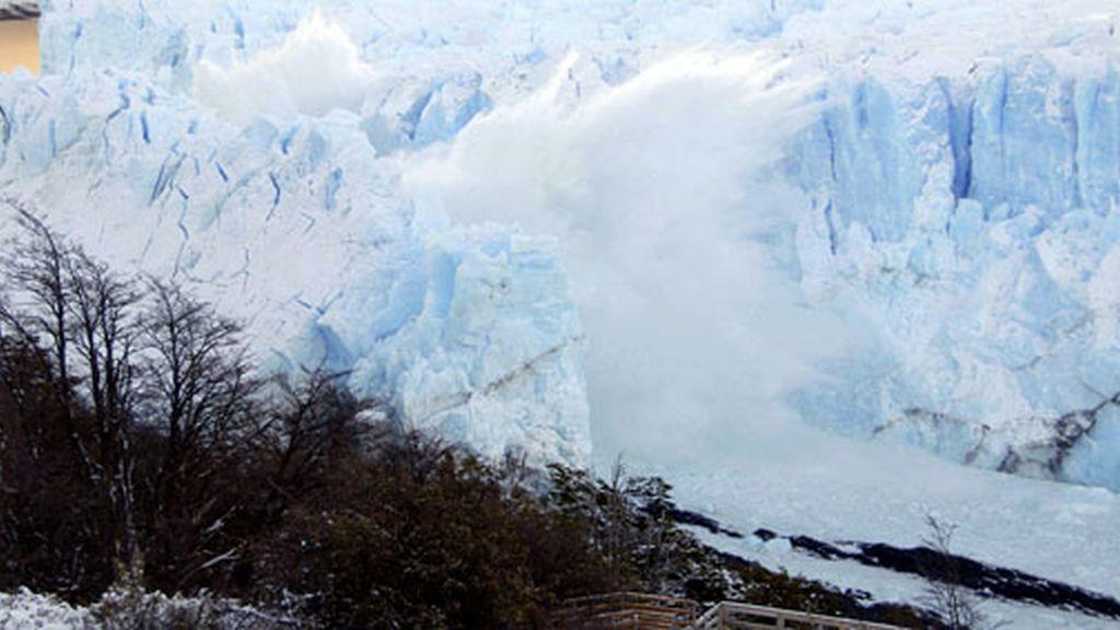 El desmoronamiento del glaciar
