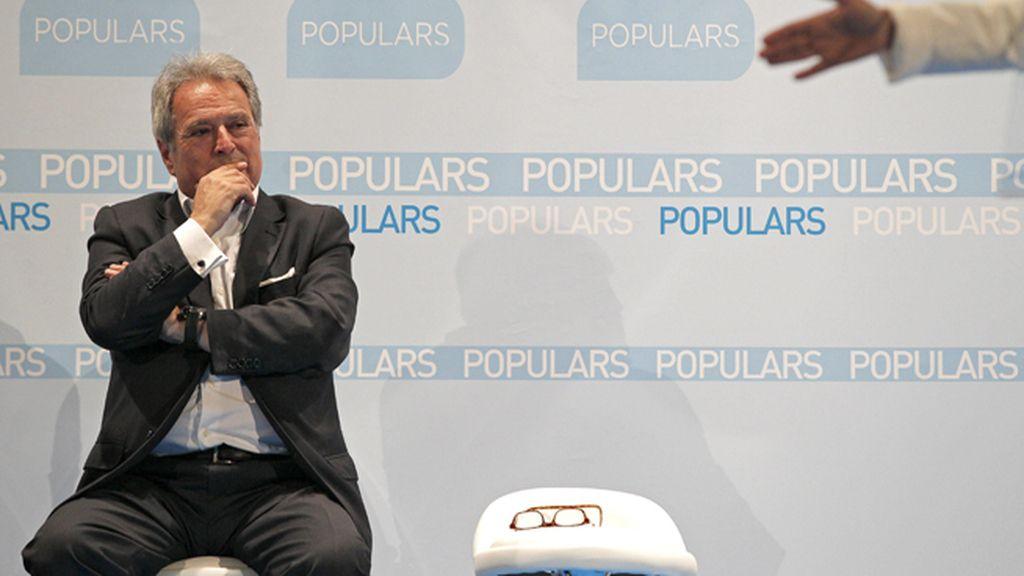 Alfonso Rus, presidente de la Diputación de Valencia, en un acto en L'Eliana