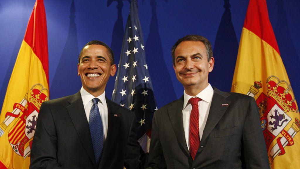 Barack Obama con Zapatero