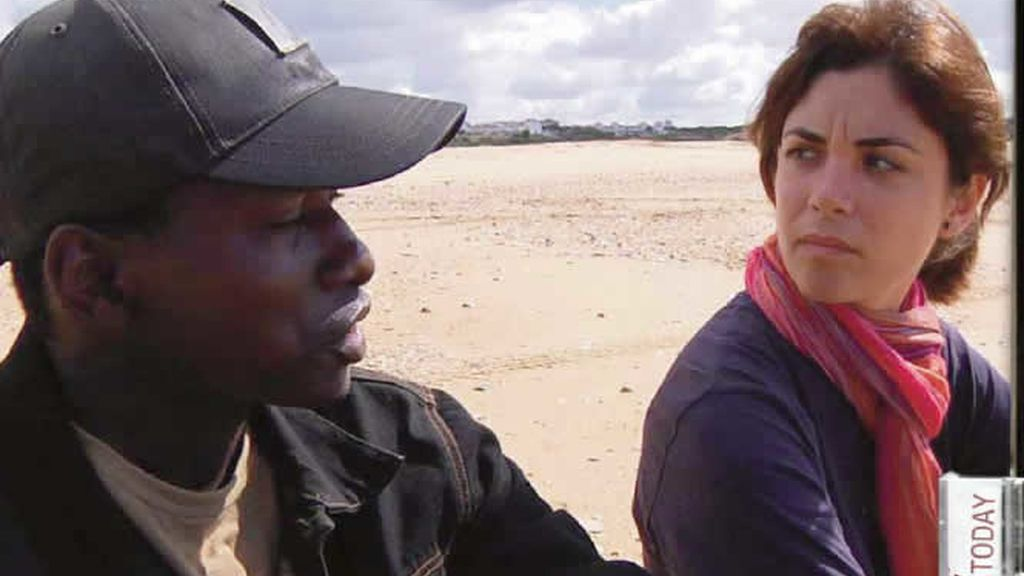 Samanta Villar convive con inmigrantes ilegales en Huelva