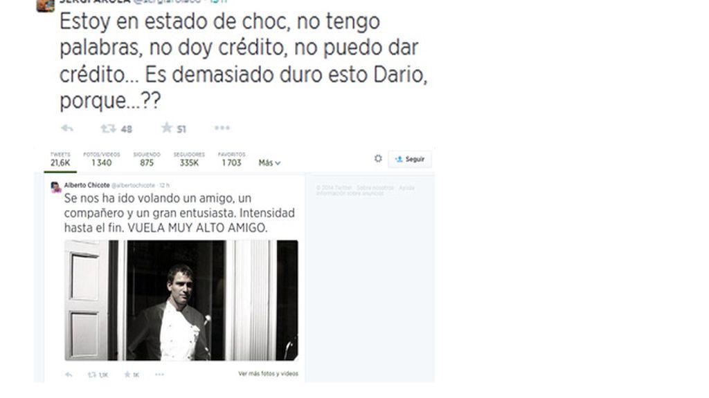 Twitter llora la muerte de Darío Barrio