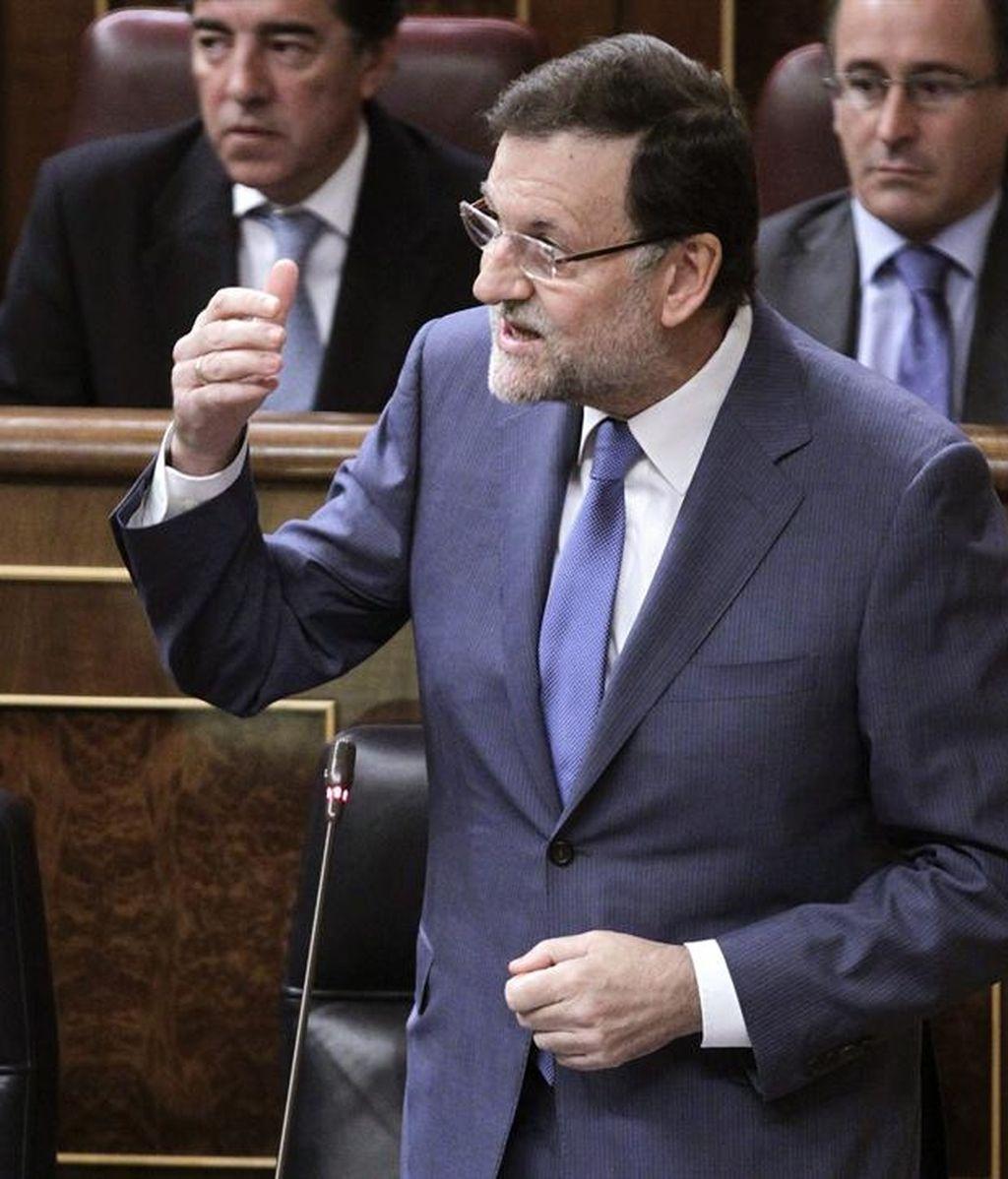 Rajoy responde a CiU en el Congreso