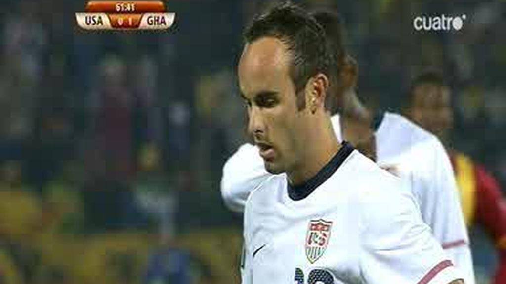 Donovan empata tras marcar de penalty (1-1)