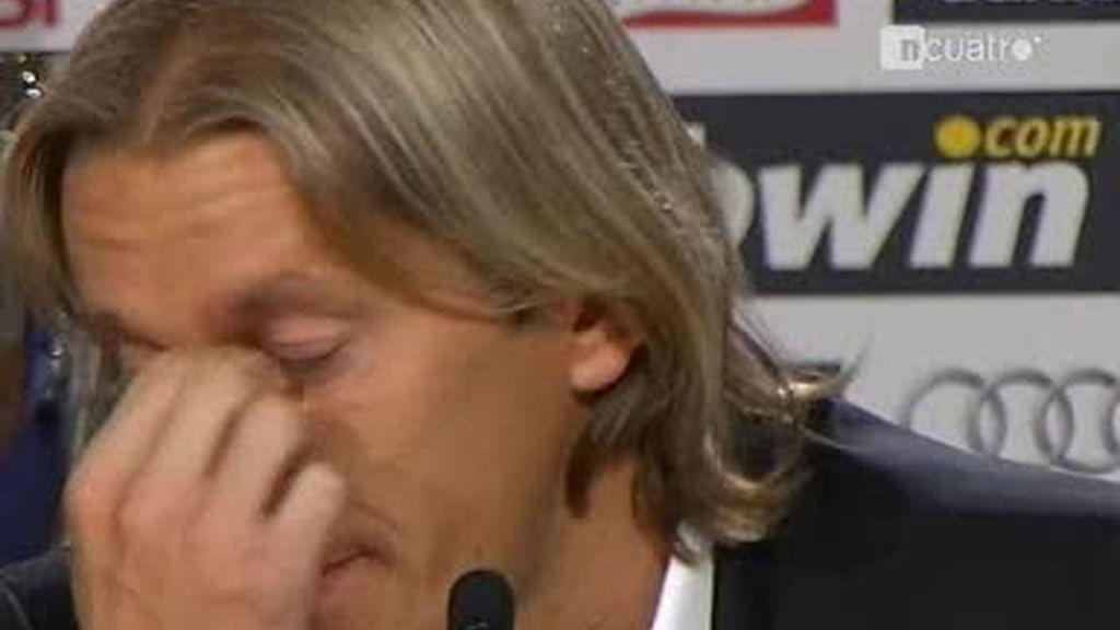 Michel Salgado se despide llorando del Real Madrid
