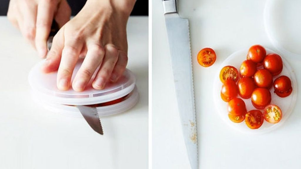 Cortar tomates cherry