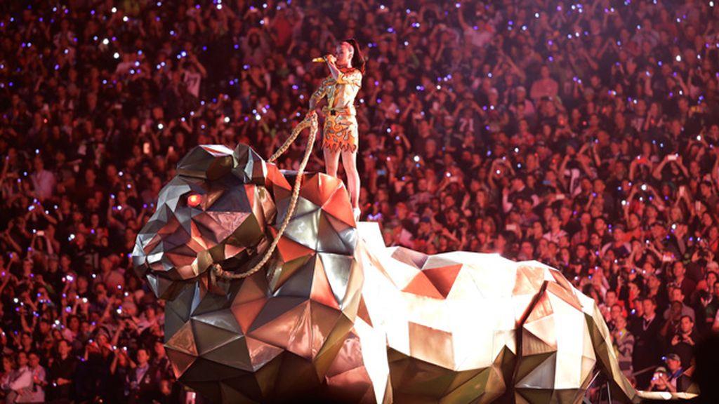 Un león dorado para Katy Perry