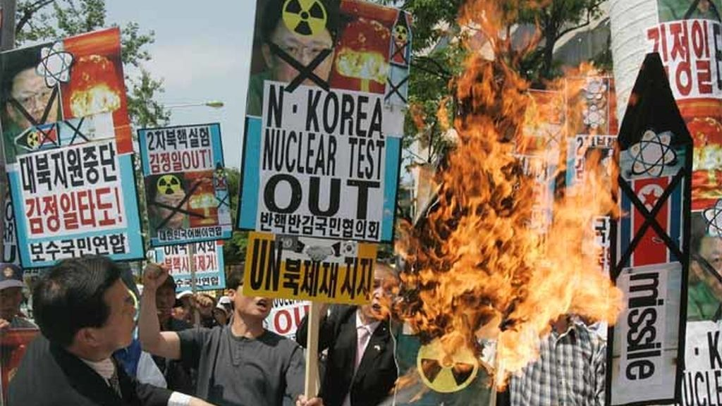 Protesta contra Pyongyang