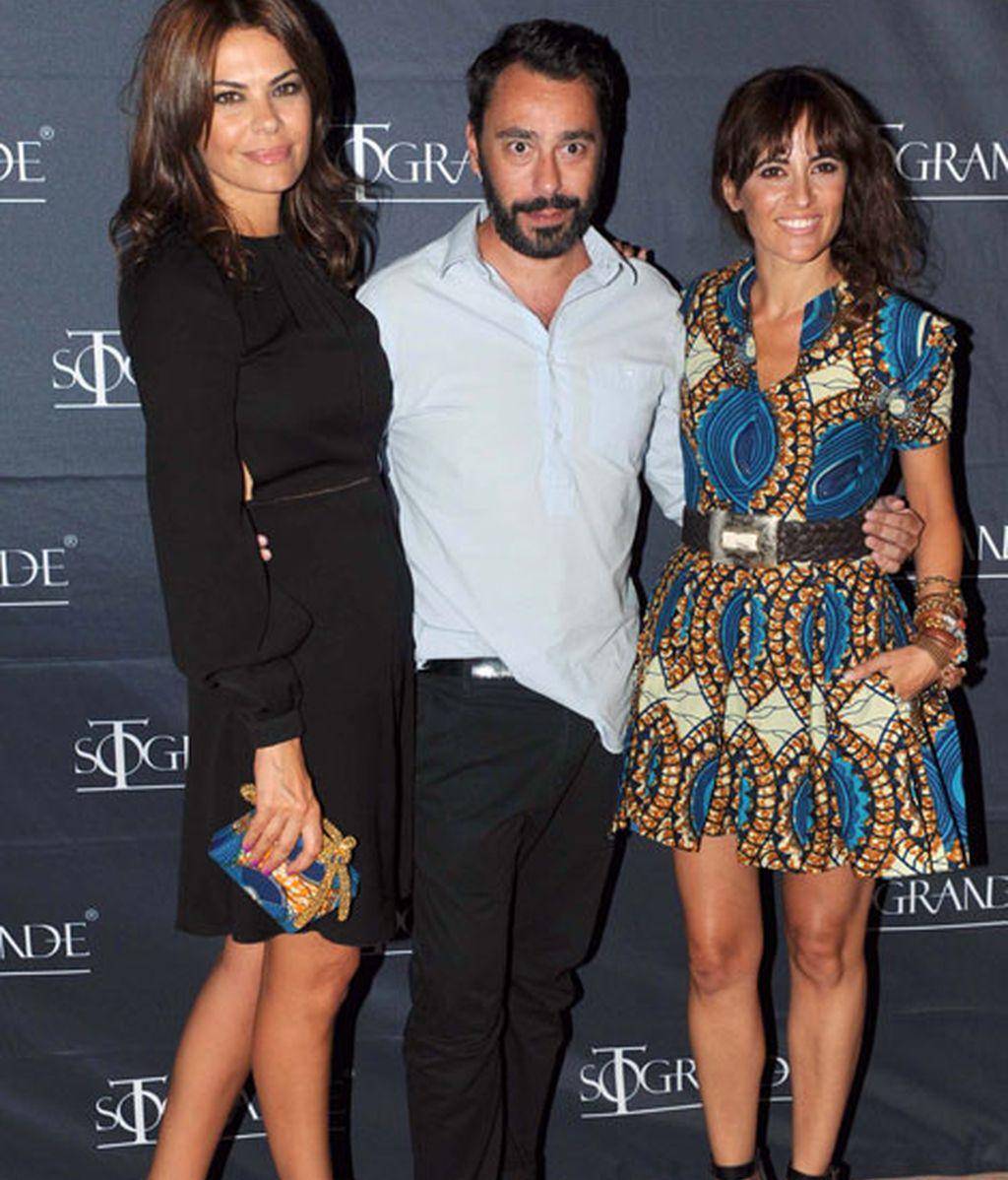 María José Suárez, Juanjo Oliva y la actriz Ana Turpin