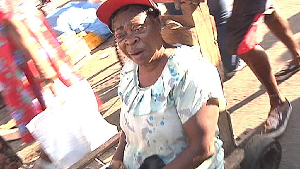 Una mujer con carrito, estampa típica de Jamaica