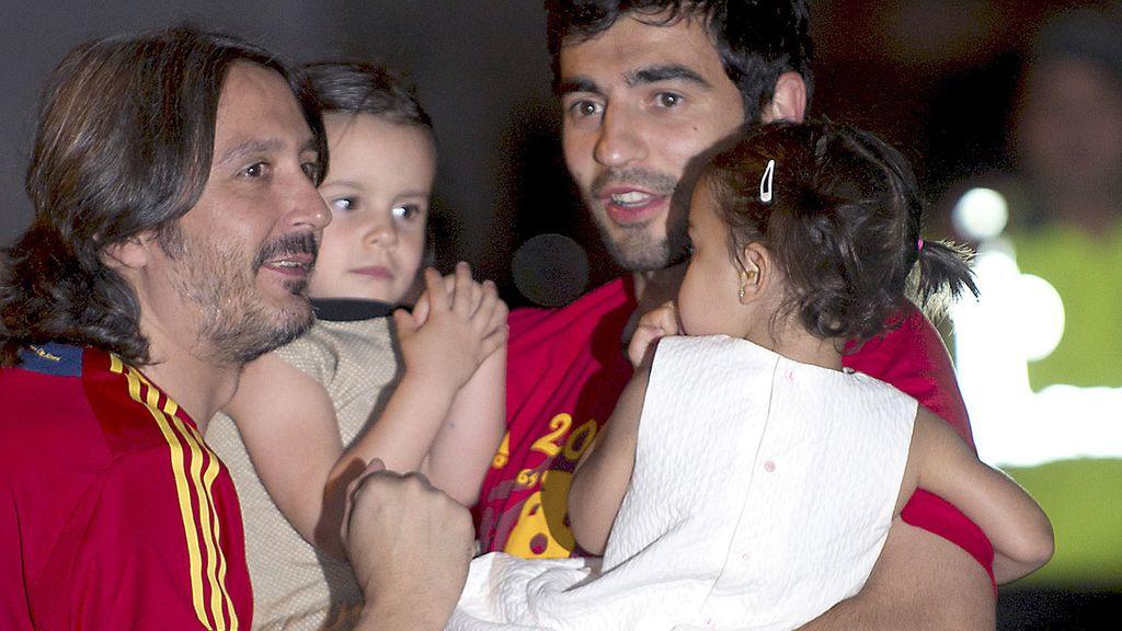 Albiol durante la fiesta de la Selección española