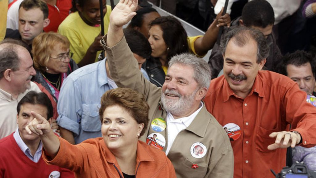 Lula da Silva y la candidata Dilma Rousseff