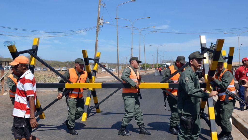 Soldados venezolanos en la frontera con Colombia