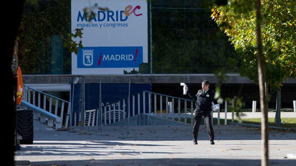 Entrada del recinto Madrid Arena