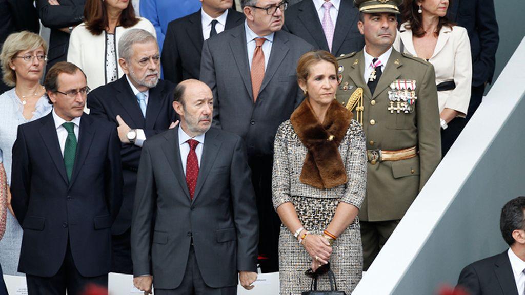 La Infanta Elena, junto a Alfredo Pérez Rubalcaba