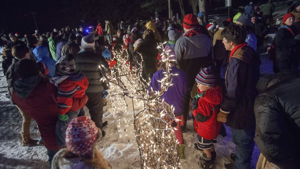 Iluminación anual de las calles de Newtown (EE.UU)