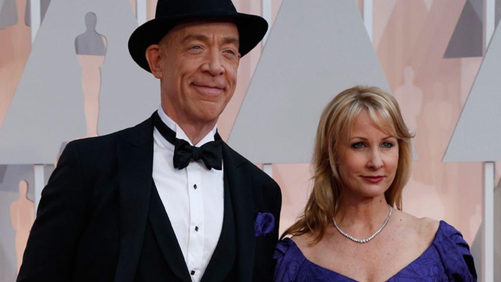 J.K. Simmons y su mujer