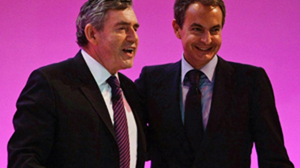 Brown y Zapatero