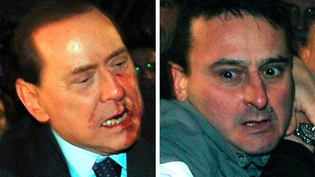 Berlusconi, agredido
