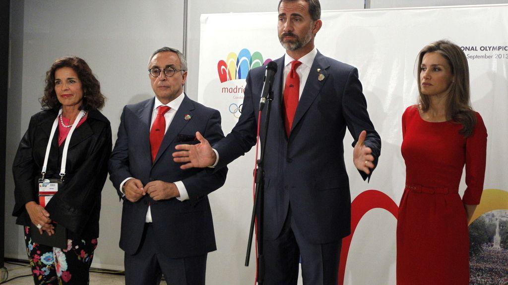 El Príncipe Felipe, en la rueda de prensa posterior a la eliminación de Madrid