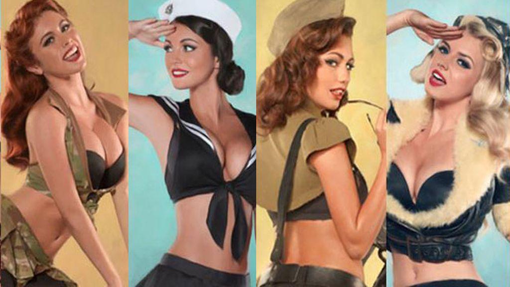 Las chicas pin-ups a lo militar