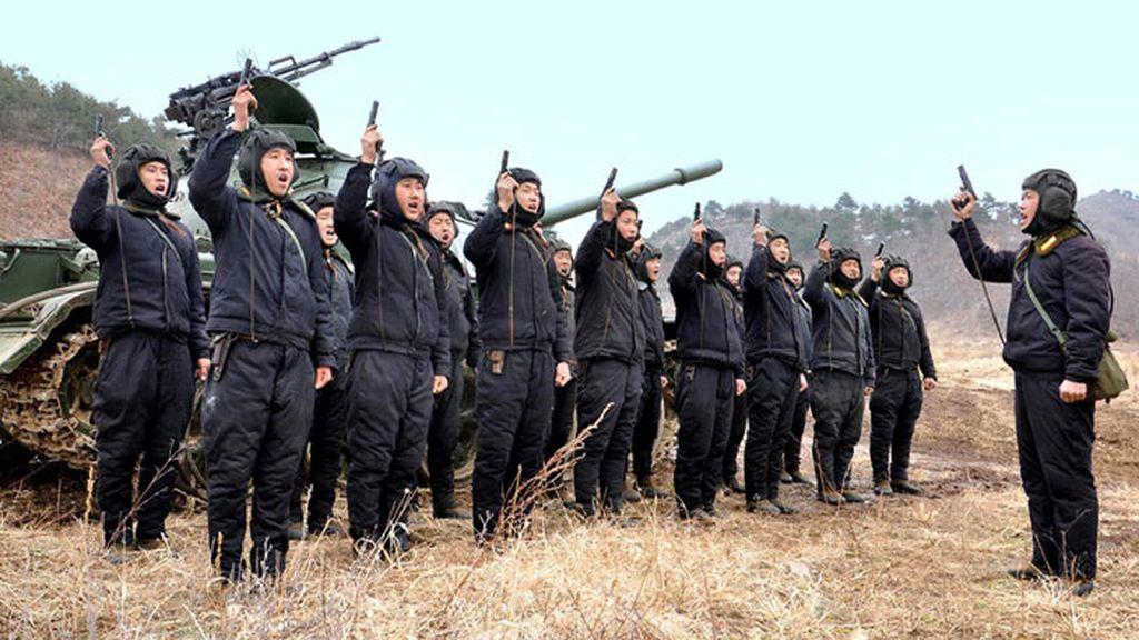 Los ejercicios militares en Corea del Norte
