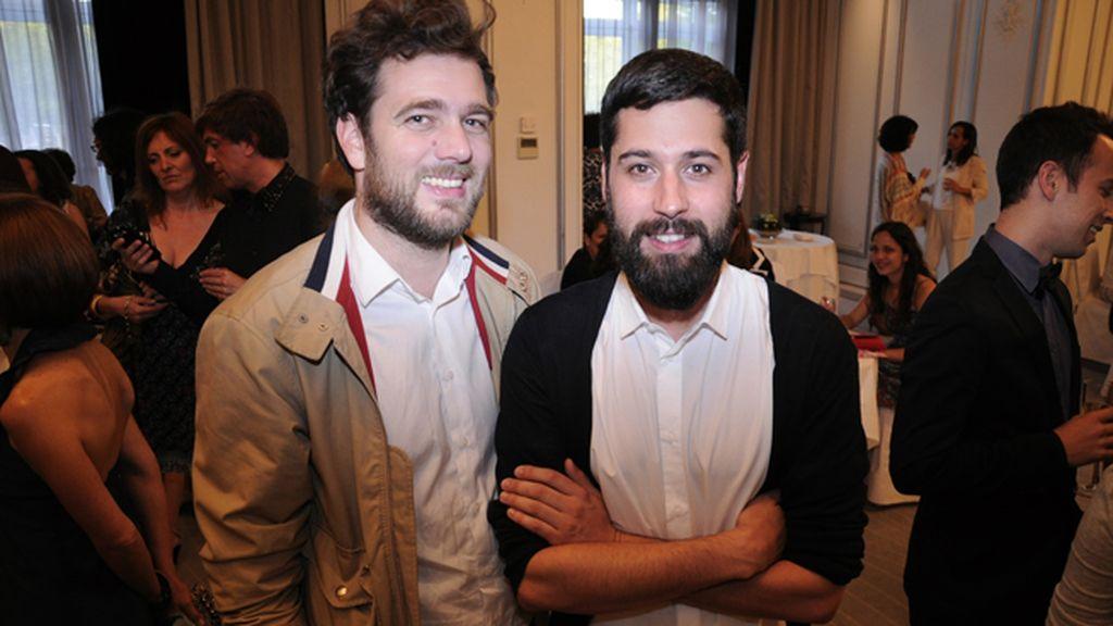 Valerio Canals y el diseñador Moisés Nieto en el Hotel Palace