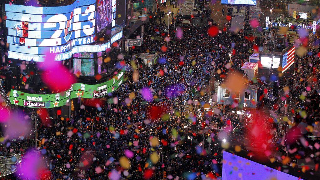 La tradicional despedida del año en Times Square