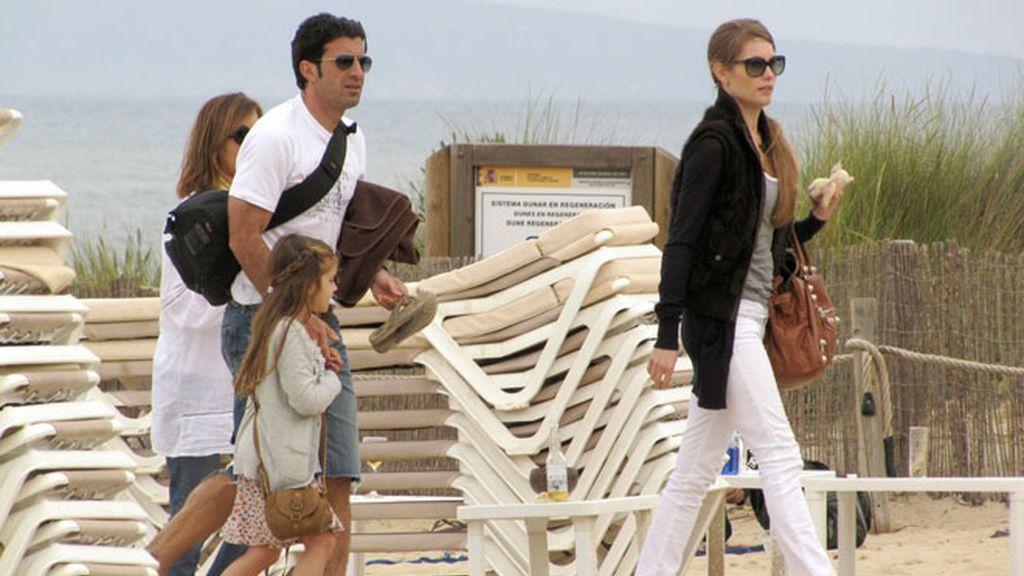 Figo y Zidane, vacaciones en el mar