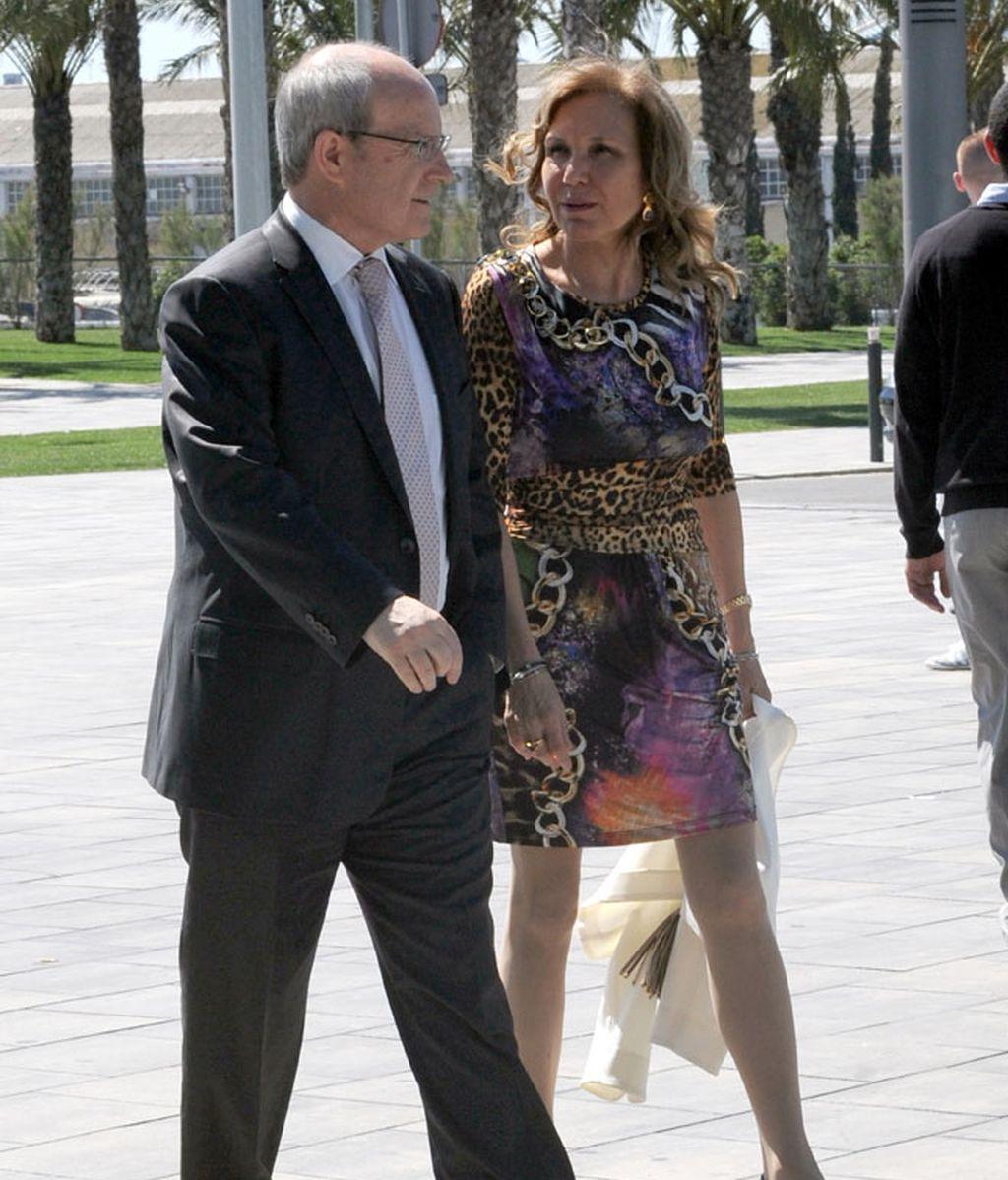 Belén Esteban y José Montilla, en la boda del creador de 'Sálvame'