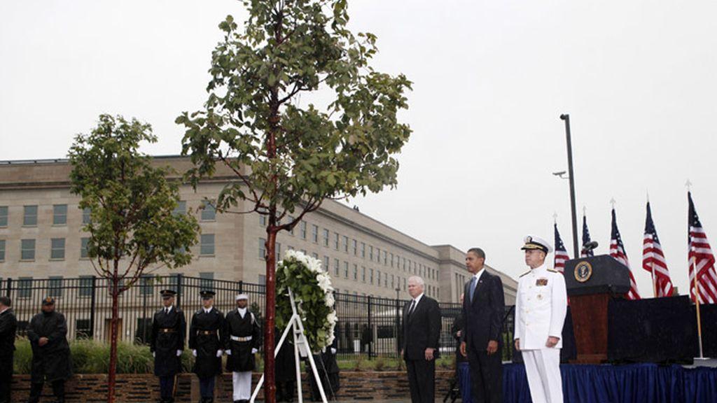 Obama durante un acto recordatorio del 11-S