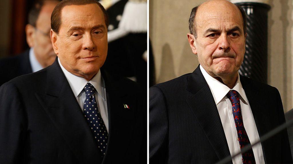 Silvio Berlusconi y Pier Luigi Bersani