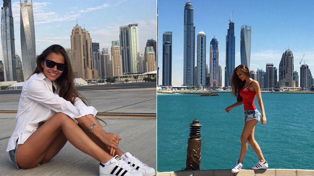 Tiene 21 años, es rusa y está en Dubái, como el piloto
