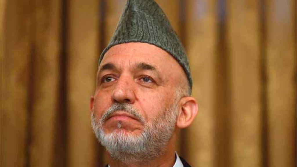 El presidente afgano y candidato a la reelección, Hamid Karzai, en Kabul