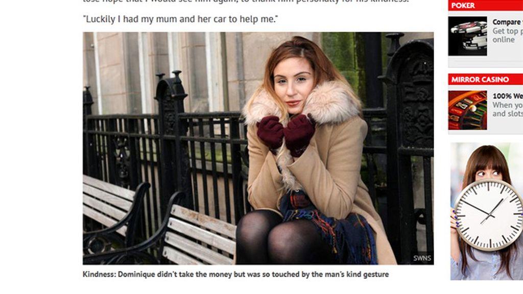 Dominique ha recaudado más de 12.000 euros para un mendigo que la ayudó
