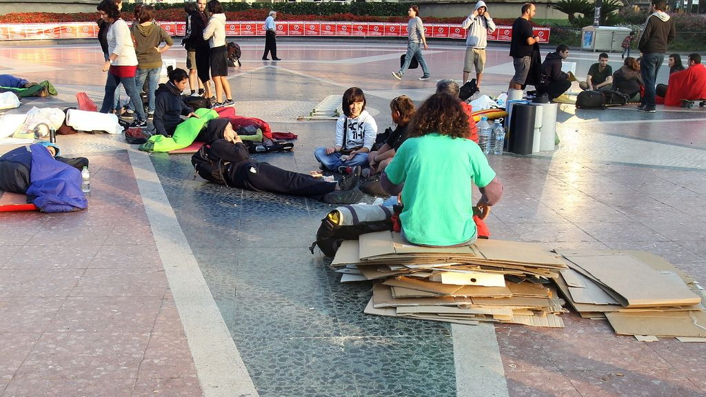 Tiendas en la Plaza de Cataluña