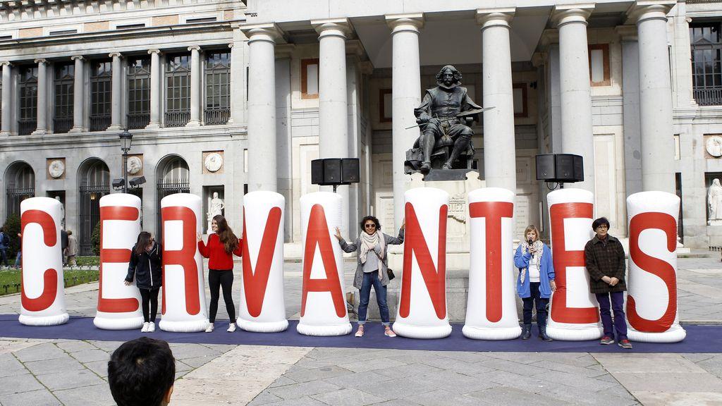 Homenaje a Cervantes en Madrid