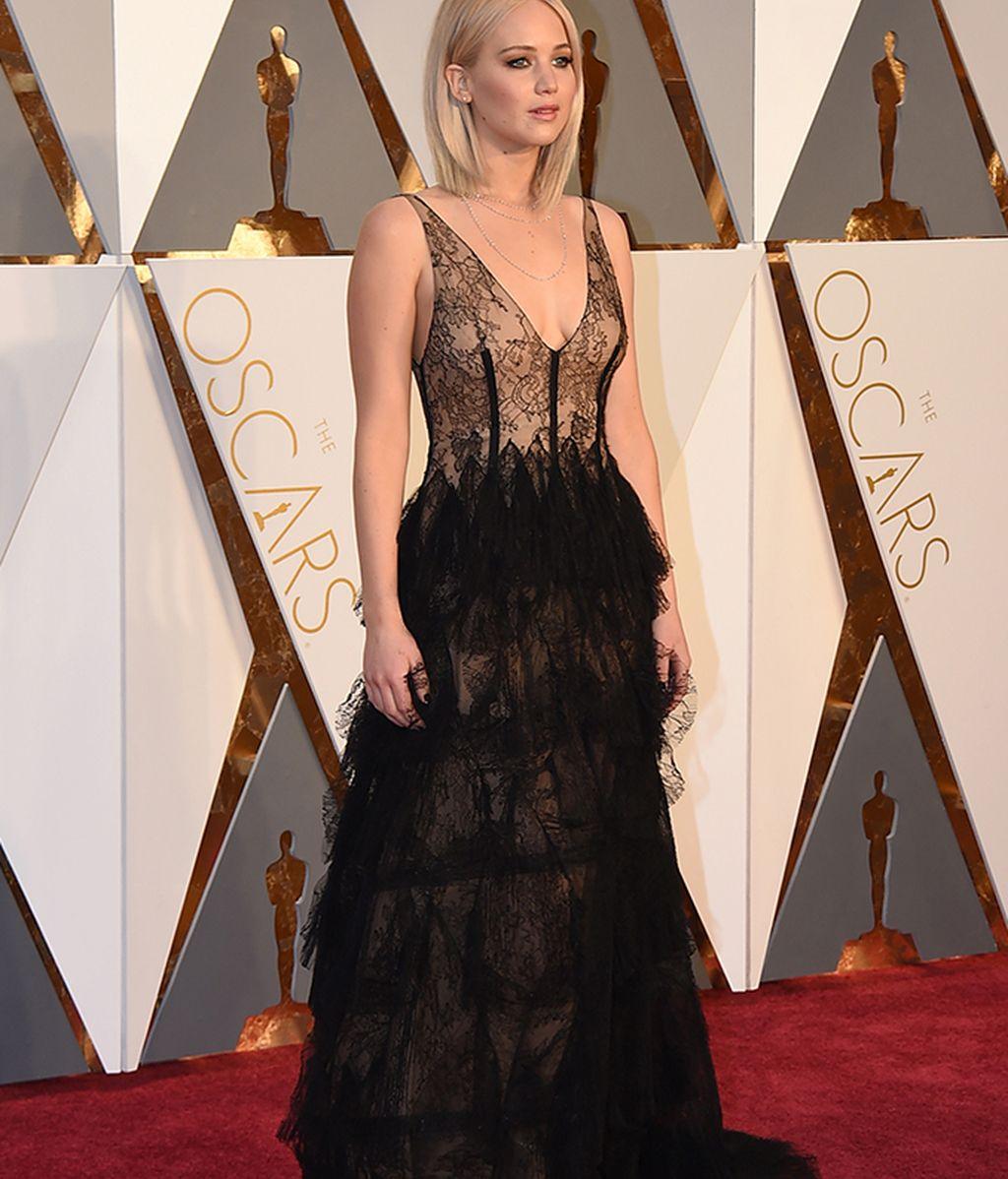 Jennifer Lawrence vestida de Dior