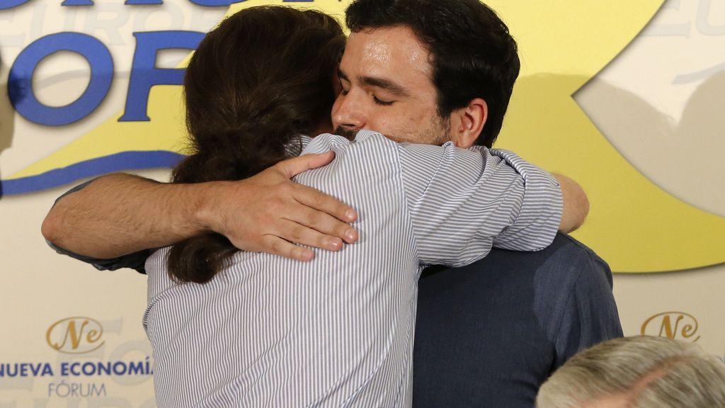 Iglesias y Garzón muestran su sintonía en Madrid