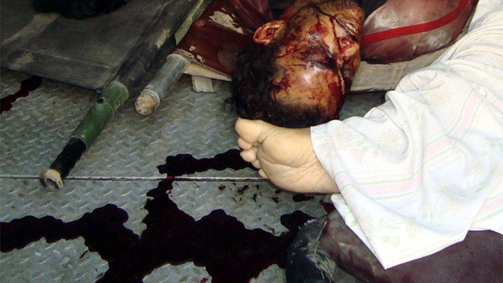 Imágen de un depósito de cadáveres en Bagdad