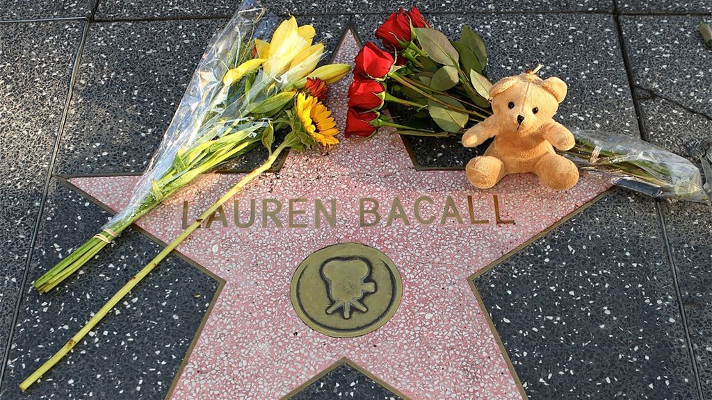 La estrella de al fama de Lauren Bacall