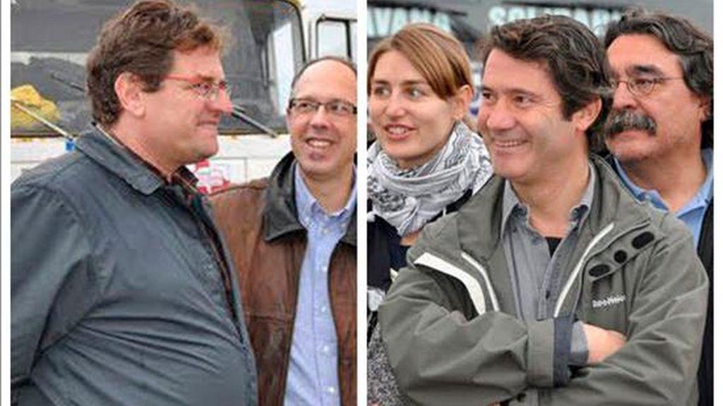 Fotografías de archivo de Roque Pascual Salazar y Albert Vilalta (d), cooperantes españoles de la organización 'Barcelona-Acció Solidária' que fueron secuestrados el pasado 29 de noviembre en Mauritania. EFE/Archivo