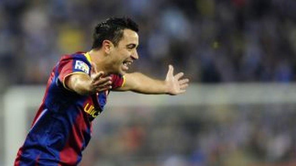 Xavi celebra un gol. Foto: Gtres
