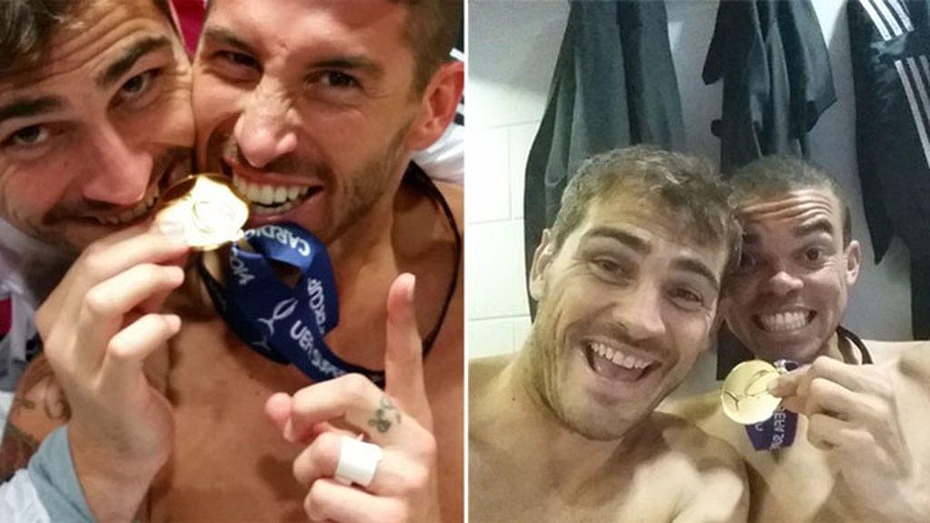 Casillas celebración Supercopa 2
