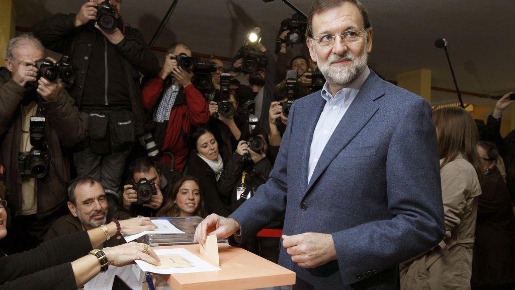 Mariano Rajoy acude a votar